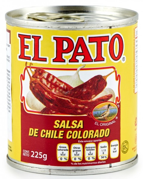 Salsa Chile Colorado El Pato 225 g