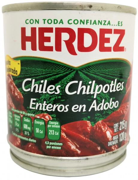 Chili Chipotles in Adobo Herdez - mariniert 215 g